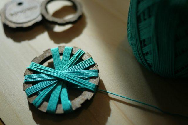 kinowa,キノワ,糸ボタン,ボタンメーキング,糸巻きボタン